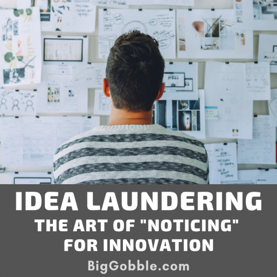 "Idea Laundering – The Art of ""Noticing"" for Innovation"